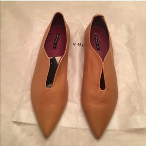 Zara Leather flats